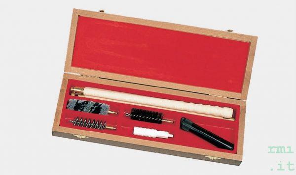 Accessori Kit pulizia fucili con scatola in legno